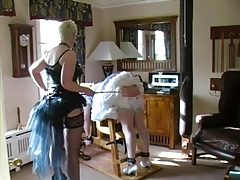 sissy maid caned